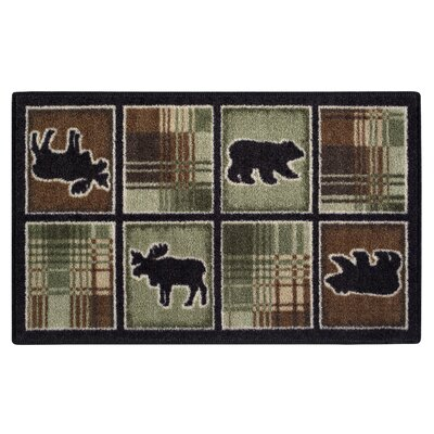 Lodge Plaid Chocolate Area Rug Rug Size: 18 x 210
