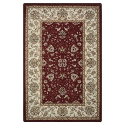 Amani Red Area Rug Rug Size: Rectangle 5 x 8