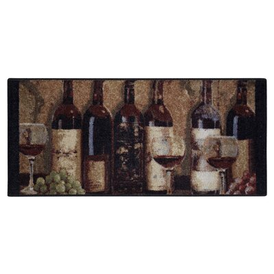 Wine Boutique Burgundy Area Rug Rug Size: 1'8 x 3'8