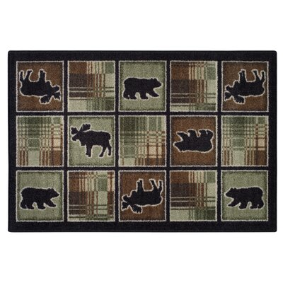 Lodge Plaid Chocolate Area Rug Rug Size: 26 x 310