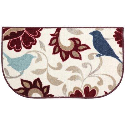 Bird Brocade Rich Doormat Rug Size: 17 x 28