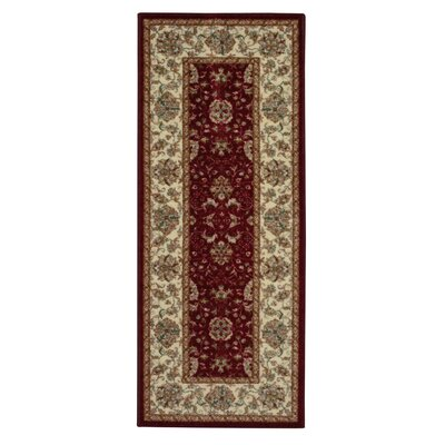 Amani Red Area Rug Rug Size: Runner 18 x 5