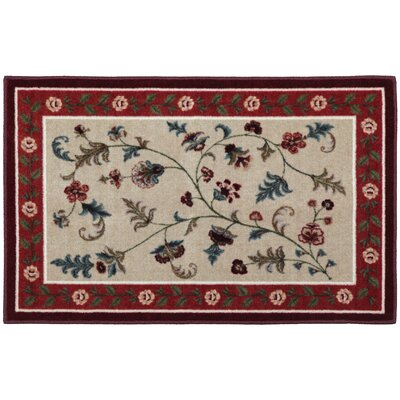 Farrah Rich Red/Beige Area Rug Rug Size: Rectangle 18 x 5
