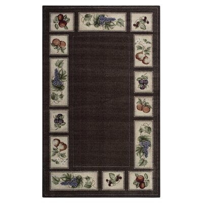 Edens Bounty Chocolate Area Rug Rug Size: 17 x 28