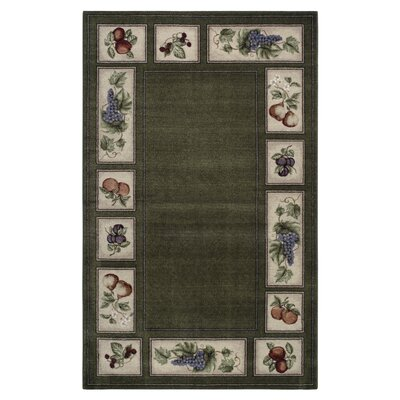 Edens Bounty Olive/Green Area Rug Rug Size: Rectangle 18 x 5