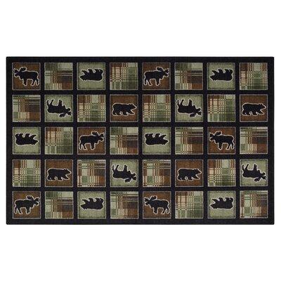 Lodge Plaid Chocolate Area Rug Rug Size: 5 x 8