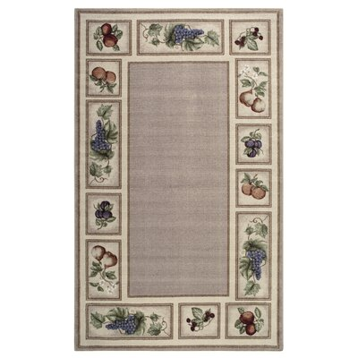 Edens Bounty Praline Area Rug Rug Size: Rectangle 5 x 8