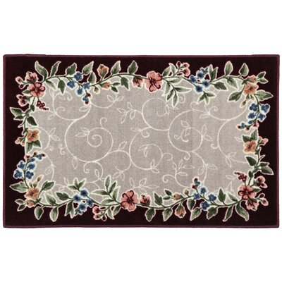 Sevilla Merlot/Grey Area Rug Rug Size: Rectangle 8 x 10