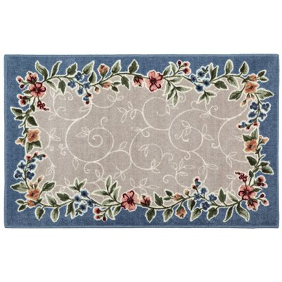 Sevilla Blue Mist/Beige Area Rug Rug Size: Rectangle 33 x 54