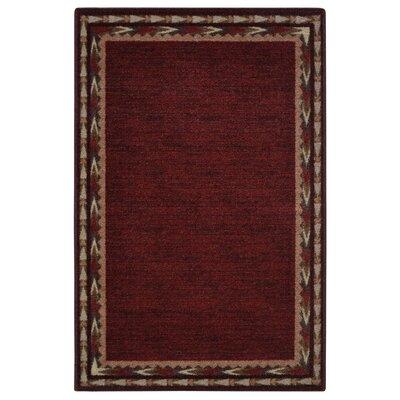 Pondera Garnet Area Rug Rug Size: 33 x 54