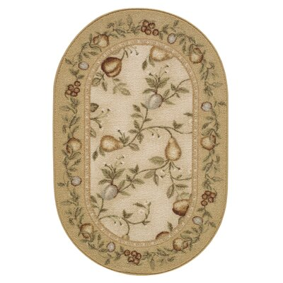 Splendid Fruit Gold Area Rug Rug Size: 1'7