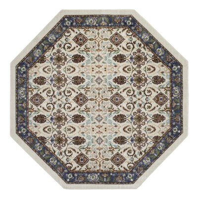 Tarsus Blue/Beige Area Rug Rug Size: Octagon 5
