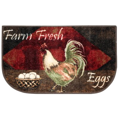 Egg Basket Area Rug Rug Size: Half Circle 17 x 28