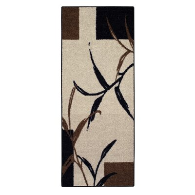 Kazumi Black Area Rug Rug Size: Rectangle 33 x 54
