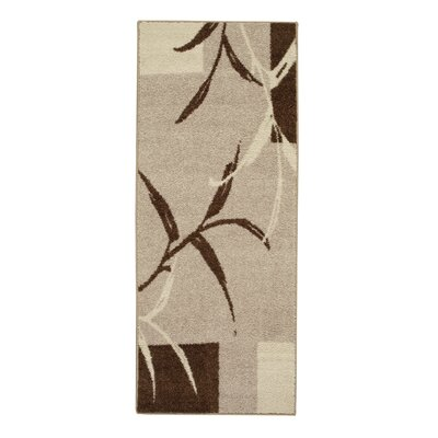 Kazumi Brown/Cream Area Rug Rug Size: Rectangle 2 x 5