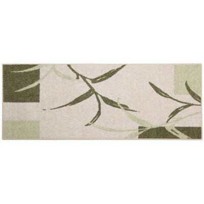 Kazumi Sage/Cream Area Rug Rug Size: Rectangle 34 x 5