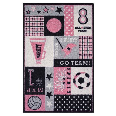 Pink Area Rug Rug Size: 26 x 310