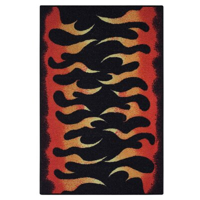 Red Area Rug Rug Size: 33 x 54