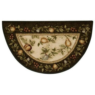 Splendid Fruit Deep Olive Area Rug Rug Size: 18 x 210