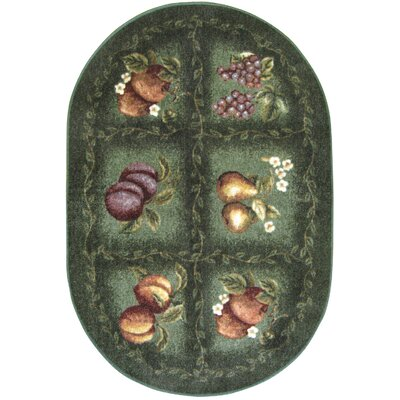 Fruited Fields Area Rug Rug Size: Oval 18 x 210