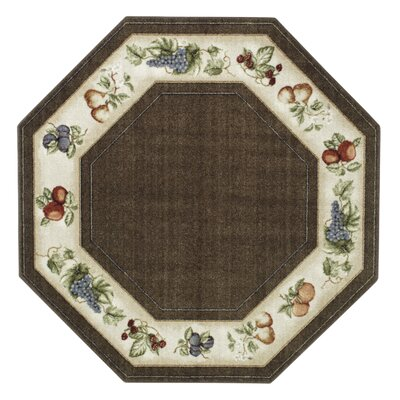 Edens Bounty Chocolate Area Rug Rug Size: Octagon 5