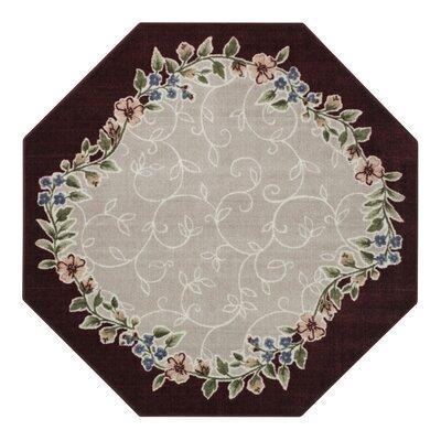 Sevilla Merlot/Grey Area Rug Rug Size: 26 x 310