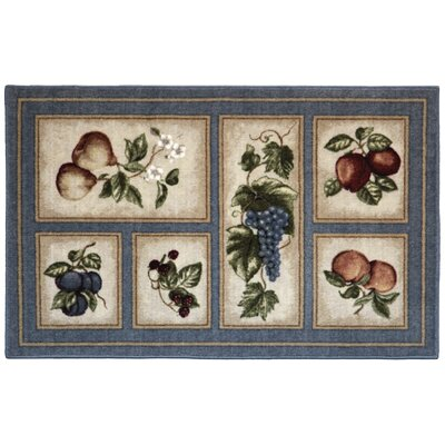 Edens Bounty Slate/Blue Area Rug Rug Size: Rectangle 33 x 54