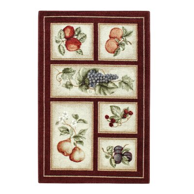 Edens Bounty Burgundy/White Area Rug Rug Size: Rectangle 33 x 54