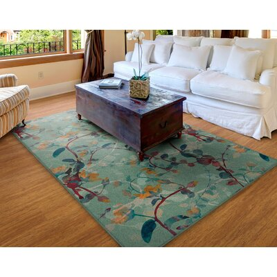 Tetrault Green Area Rug Rug Size: Rectangle 34x5