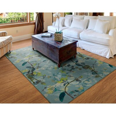 Tevis Green/Blue Area Rug Rug Size: Rectangle 34x5