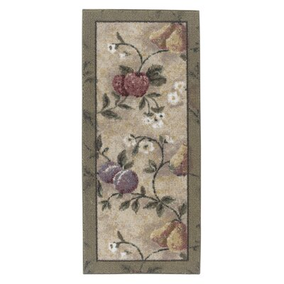 Abundant Fruit Sage Area Rug Rug Size: Rectangle 18 x 38