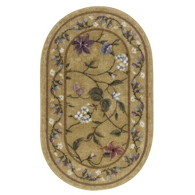 Butterfly Topaz Area Rug Rug Size: Oval 18 x 210