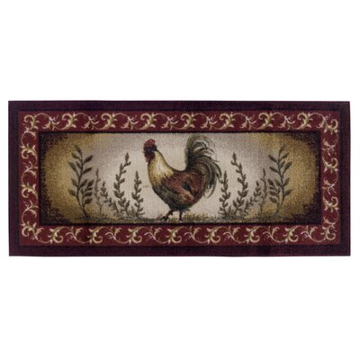 Prancing Rooster Kitchen Novelty Rug