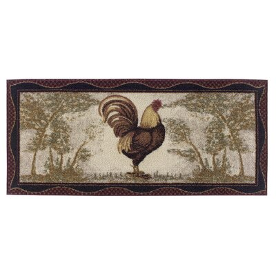 Rooster Novelty Kitchen Rug Rug Size: 1'8 x 3'8