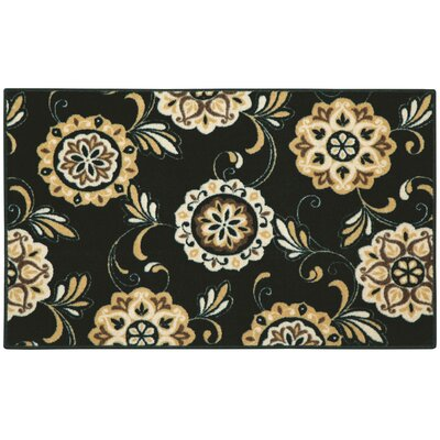 Pippin Black Area Rug Rug Size: 26 x 310
