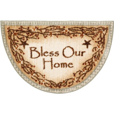 Berry Blossoms Blessing Kitchen Brown Novelty Rug Rug Size: Half Circle 17 x 27