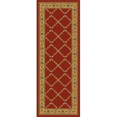 Premier Red Brick Area Rug Rug Size: Runner 110 x 5
