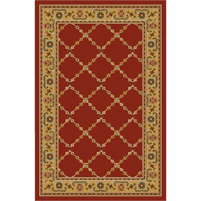 Premier Red Brick Area Rug Rug Size: 2'6