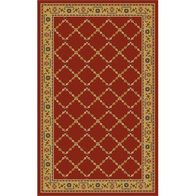 Premier Red Brick Area Rug Rug Size: 33 x 54