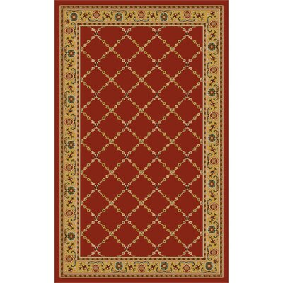 Premier Red Brick Area Rug Rug Size: 5 x 8