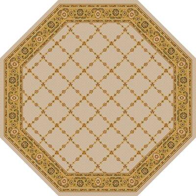 Premier Natural Beige Area Rug Rug Size: Octagon 6