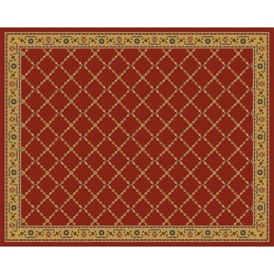 Premier Red Brick Area Rug Rug Size: 8 x 10