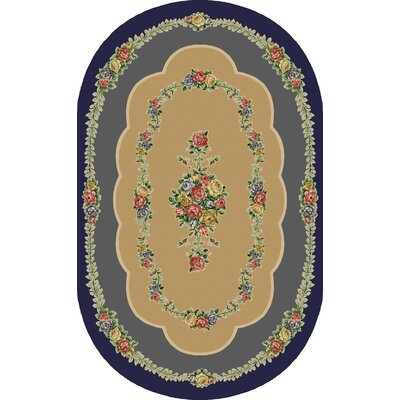Rosewood Nantucket Blue Area Rug Rug Size: Oval 5 x 8