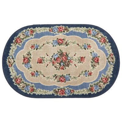 Rosewood Nantucket Blue Area Rug Rug Size: Oval 26 x 310