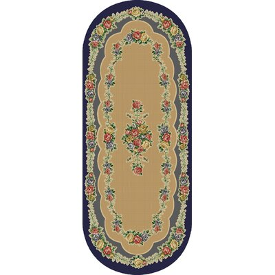 Rosewood Nantucket Blue Area Rug Rug Size: Oval 110 x 5