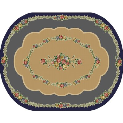 Rosewood Nantucket Blue Area Rug Rug Size: Oval 8 x 10