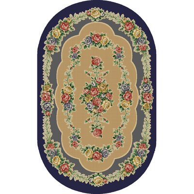 Rosewood Nantucket Blue Area Rug Rug Size: Oval 33 x 54