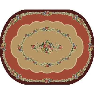 Rosewood Burgundy Area Rug Rug Size: Oval 8 x 10