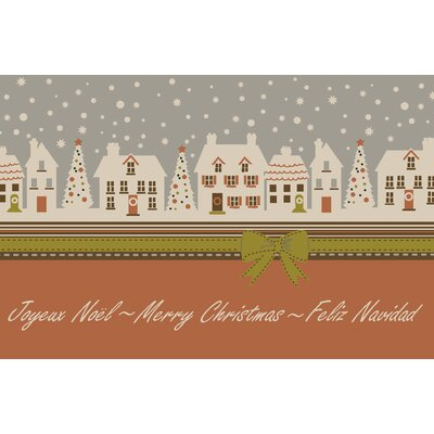 Christmas Avenue Novelty Rug Rug Size: 26 x 310