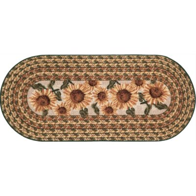 Carroll Valley Kitchen Mat Mat Size: Oval 20 x 44